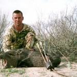 Author shows what the Spinning Insert can do on this TX hunt for javalina.