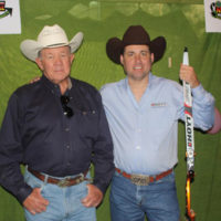 Frank with the King Ranch's Butch Thompson.  Addington consider's Butch one  of his favorite people.