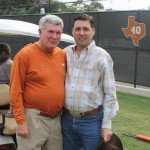 Frank with University of Texas head football coach Mack Brown