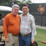 Frank with University of Texas head football coach Mack Brown