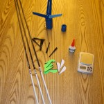 "I assembled my VAP 350s with Goat-Tuff Opti-Vanes and glue, Bohning 7"" Wraps, & EZ-Fletch Mini fletching tool"