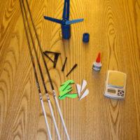 "I assembled my VAP 350s with Goat-Tuff Opti-Vanes and glue, Bohning 7"" Wraps, & EZ-Fletch Mini fletching tool"