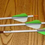 "VAP 350s shown here with Goat-Tuff Opti-Vanes and Bohning 7"" Wraps"