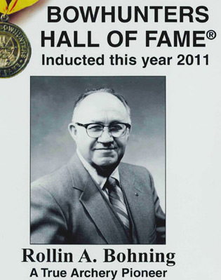 Rollin Bohning into Bowhunters Hall of Fame