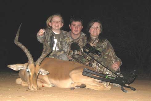 Sis, Mom and My Barnett in Africa