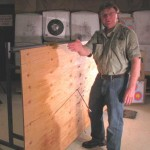 The Swhacker 125 grain head blasted through the 67-degree plywood, which was the steepest plywood test I have ever attempted.