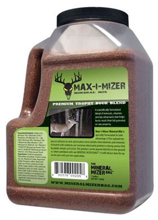 Max-I-Mizer Minerals for Year-Round Nutrition.