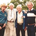 Dale Gray, Papa Bear, George and Eastmon founder Bob Eastman.