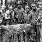 George's Hunting Group: (LtoR) Richard Smith, Bob Brockwell, George, Ted Nugent, Phil Grable, Dave Borgeson, Gary Marshall and Sam Grissom.
