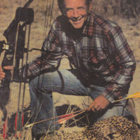 Rounding out a spectacular African hunt George smiles over his spotted trophy.