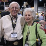 The Gardners: George and Betty at the Archery Trade Association Show.