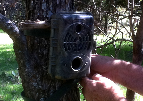 SpyPPoint IR-5 trail and game camera.