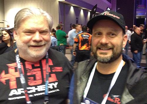 Fred Lutger of Freddie Bear Sports and Jay Liechty of Grim Reaper Broadheads.