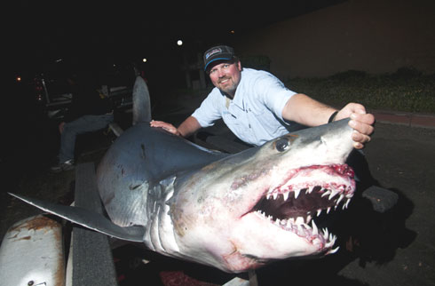 Bowfishing off California for Mako Sharks