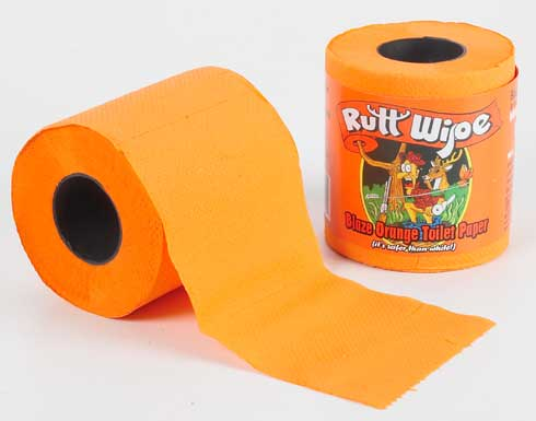 Rutt Wipe Blaze Orange Toilet Paper