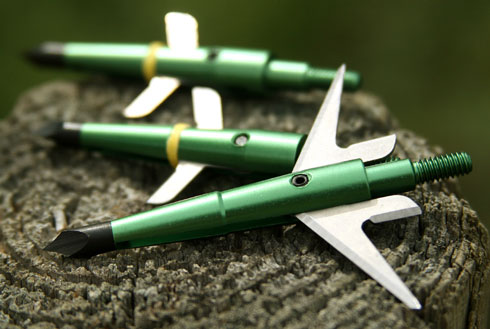 Swhacker broadheads - a deadly broadhead that flies like a field point and opens inside the animal for the most damage.