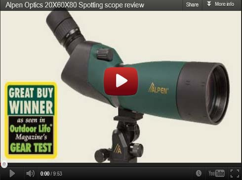 Gear Review: Alpen Optics 20X60X80 Spotting Scope