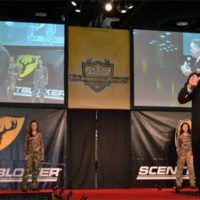 Robinson Outdoors President/CEO Scott Shultz kicks off the show at this years Archery Trade Show in Louisville.