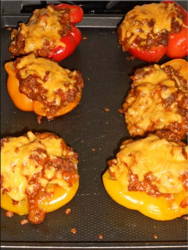 Cooking with SusieQ: Venison Sloppy Joe Stuffed Peppers