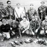 Tisepe Bowhunters from a 1970 pheasant hunt. M.R. and Don are in the lower right; Bob Schisler is standing at the far left.