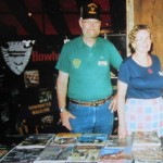 Don with wife Pat working the Bowhunter Magazine booth at one of the many shows they attended. More than just work, it gave the world a chance to meet two of the nicest people our industry has ever turned out.