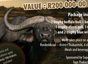 Win an African Cape Buffalo Hunt!