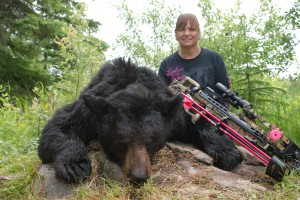 7? Saskatchewan Black Bear taken with my Tenpoint Crossbow and Swhacker Crossbow Broadheads