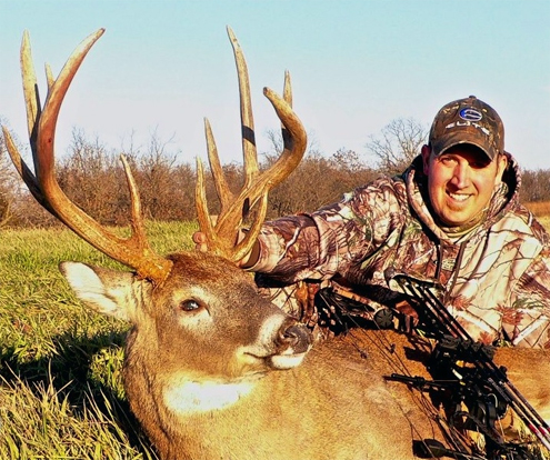 Author with one of his whitetail trophies.