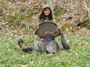 Spring Gobbler taken with the Tenpoint Crossbow and Swhacker Crossbow Broadheads Photo Credit: Diane Hassinger
