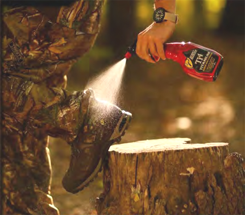 The best way to eliminate animal spooking scent is Ti4™ Titanium Scent Elimination Spray.
