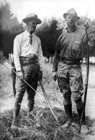 Dr. Saxton Pope & (r) Arthur Young.