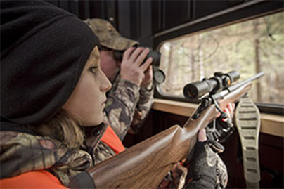 Take a Child Hunting in an Advantage Hunting Blind