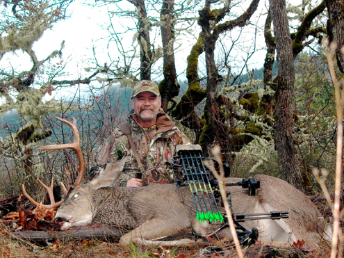 The author with his well-earned buck