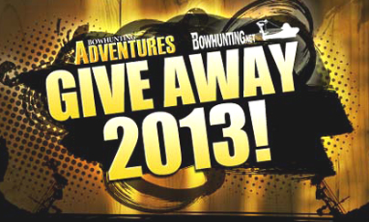 We Have a Bowhunting Adventures GiveAway 2013 Winner