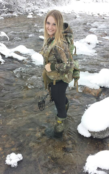Playing water by choice or fording creeks out of necessity the authors will never be without her GRUBS Boots.