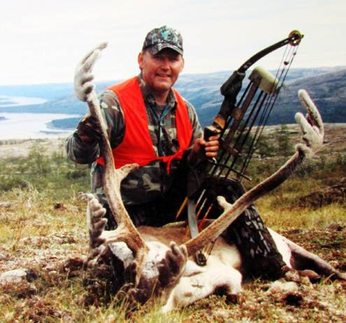 """MEET DR. CHUCK -- This 1990 photo was snapped in northern Quebec on an """"Old Man's Hunt"""" that Fred Asbell and I made to celebrate our 50th birthdays. """"Youngster"""" and fellow Pope and Young member Chuck Williams, my Montana hunting buddy, joined us and tagged this record book bull."""