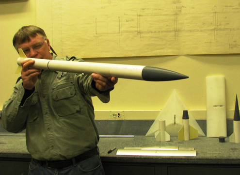 This aerospace lab tests missiles and rockets for military and space research.       We will be testing the flight characteristics of broadheads.