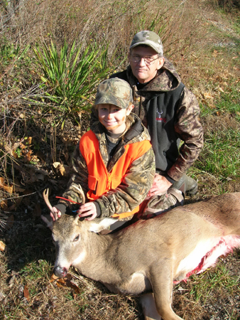 When kids love shooting bows, the logical next step is hunting.