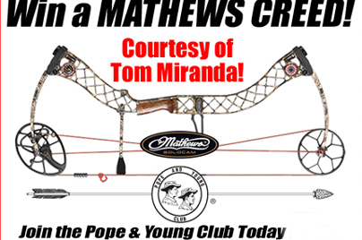 Join Pope & Young and You May Win a Mathews Creed!