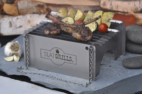 SlatGrate Makes Your Camp Stove a Versatile Cooking Platform Lightweight modular systems assemble in seconds to provide reliable cooking surfaces for compact camping stoves or cook fires.