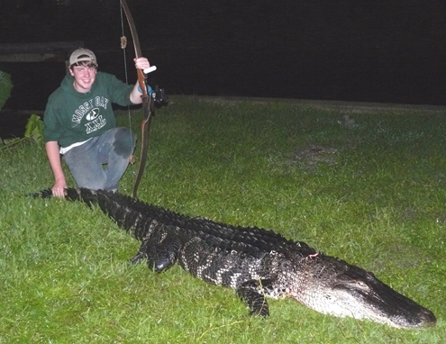 My son Tyler harvested this nice 10' alligator on our 1st DIY hunt.