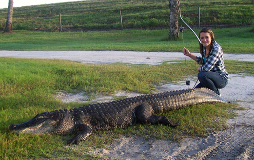 My 15 year old daughter Jennifer took this fat 10' gator on my 2nd DIY hunt.