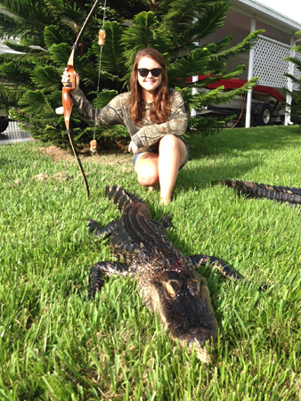 My oldest daughter took her 1st gator this year.