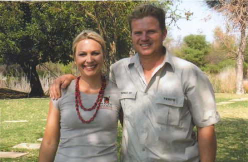 Camp manager Peirre and his wife Lezeil.