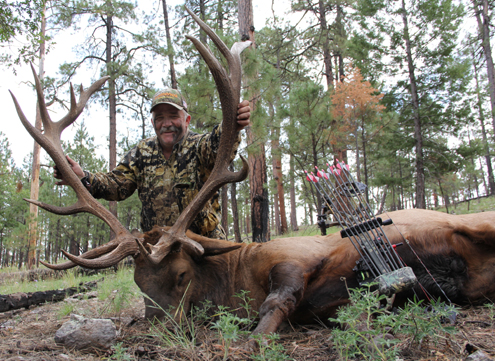 The author with his trophy elk.