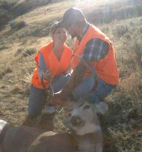 Aaron and Shyda May, yep, they hunt together.