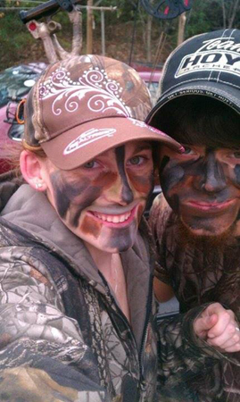Cole and Amanda Carr also hunt together.