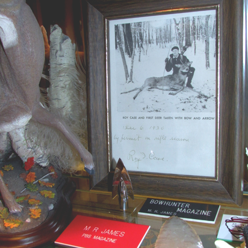 Roy Case gave me this signed photo from December 6, 1930. I keep in on display in my home office along with a replica Case Kiska broadhead similar to the hunting point he used to take his spike buck.