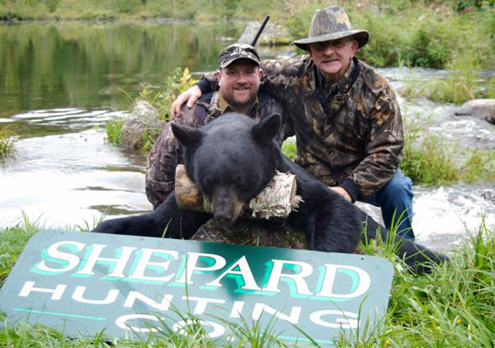 Dwight Shepard and Morton.  Dwight is Ryan's Father and one of the guides for Shepard Hunting Co.