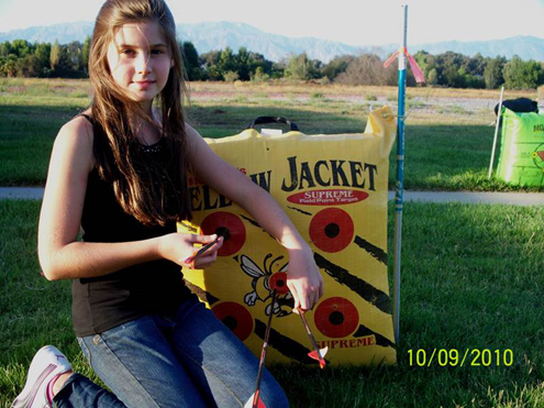 Child Actress Katelyn Haynes nails it with her first archery experience at the Hollywood Celebrity Sporting Clays Invitational. She is still shooting 4 years later.